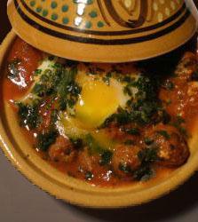 Tajine de kefta aux oeufs  Cuisine Marocaine